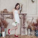 現貨 平底娃娃鞋推薦 星心公主 全真皮舒適好穿跟鞋 版型偏大 21-26 EPRIS艾佩絲-蘋果紅
