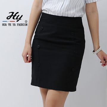 【PAS-102E-B】華特雅-簡約時尚OL辦公室女韓版六扣窄裙(黑色)上班族制服 OL粉領套裝 專業形象