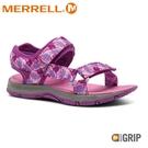 【MERRELL 美國 童 KAHUNA WEB 健行涼鞋《印花/粉紅》】MLK16495/休閒涼鞋/兒童涼鞋