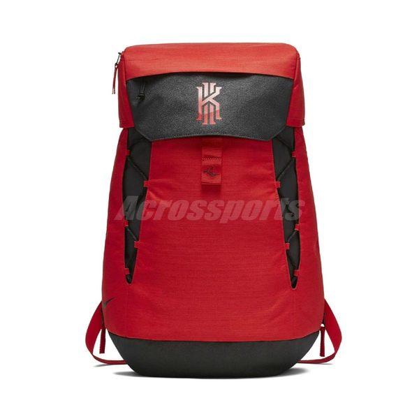 Nike 後背包 Kyrie Elite Backpack 厄文 紅 黑 背包 雙肩 大容量 籃球 健身房 37L【PUMP306】 BA5788-657