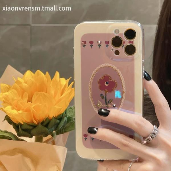 手機殼 復古做舊花朵兔iphone12promax蘋果11手機殼iphonexs max