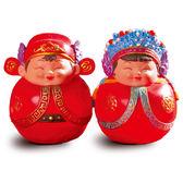 【金石工坊】囍結緣-永結同心小倆口迷你不倒翁(高8CM)中國風 婚禮擺飾 結婚禮物 居家擺飾