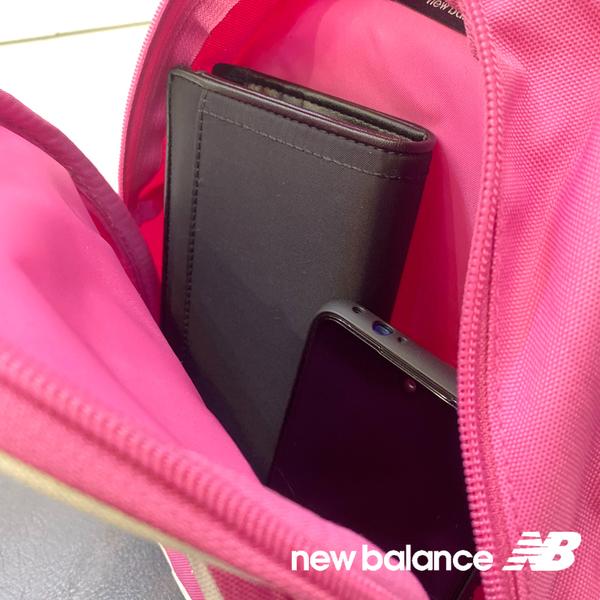 New Balance 桃紅 LOGO 尼龍 休閒 雙肩包 後背包 NO.H2628