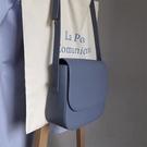 斜背包 韓國復古奶油藍翻蓋小方包學生學院風純色單肩斜背馬鞍包ins女包 榮耀 上新