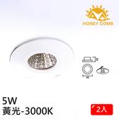 HONEY COMB 迷你型LED 5W 崁燈 2入一組TK3002-3 黃光