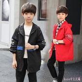 中大尺碼男童外套 童裝男童秋裝套裝2019新款兒童夾克外套中大童夾克外套LB9196【Rose中大尺碼】