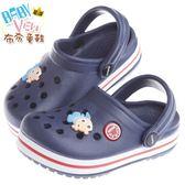 布布童鞋 藍色小魚透氣布希鞋(14公分~17.5公分) [ SJJ133B ] 藍色款