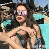 韓國ulzzang新款東大門反光太陽鏡女長圓臉潮個性百搭墨鏡  城市玩家