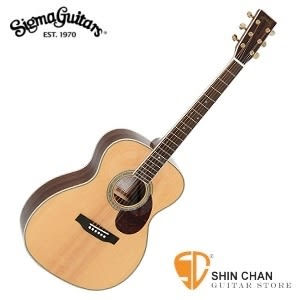 Sigma OMM-4 單板民謠吉他(OMM4/雲杉面單板/經典OM桶身) 附贈吉他袋