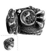 鈦鋼戒指 太極-復古中國風霸氣龍生日聖誕節禮物男飾品73le176[時尚巴黎]