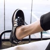 鞋子 夏季皮鞋男韓版潮流百搭透氣鞋子男學生休閒青少年英倫黑色小皮鞋