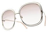 Chloe 太陽眼鏡 CL126S 724 (金) 全球熱銷款 金屬大框 # 金橘眼鏡