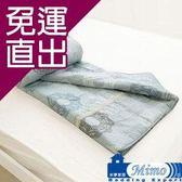 米夢家居 100%精梳純棉雙面涼被(5*7尺)-巴洛克(灰)【免運直出】