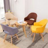 北歐餐椅靠背實木單人現代簡約成人椅子家用電腦凳子咖啡廳加厚款