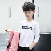 T恤—男童長袖白色t恤新款上衣兒童裝春秋季打底衫男孩體恤韓版潮9