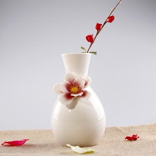 簡約陶瓷小花瓶歐式復古花瓶擺件家居裝飾品插花