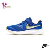 NIKE童鞋 男童運動鞋 慢跑鞋 跑步鞋 路跑 訓練鞋 魔鬼氈 STAR RUNNER 2 P7299#藍黃◆OSOME奧森鞋業