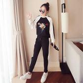 00后兩件套女春秋冬2018新款韓版加絨閨蜜裝衛衣運動服學生套裝『韓女王』