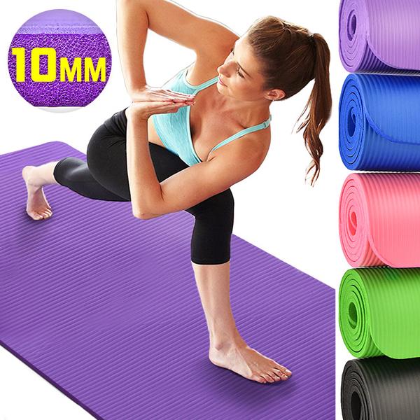 10MM加厚NBR瑜珈墊(送束帶)止滑墊防滑墊運動墊.遊戲墊野餐墊防潮墊子.地墊床墊睡墊.避震墊