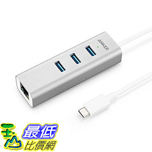 集線器 Anker AK-A8303041 3-Port USB-C to USB 3.0 Aluminum Portable Data Hub
