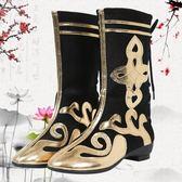新款藏族演出舞蹈靴子少數民族蒙古靴子男女美猴王兒童表演打鼓鞋第七公社