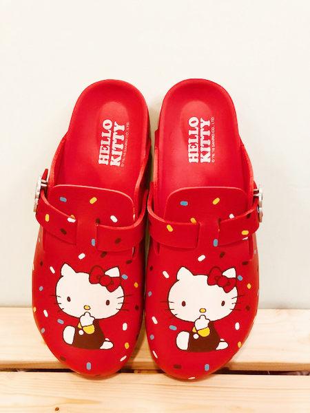【震撼精品百貨】Hello Kitty 凱蒂貓~台灣製Hello kitty正版成人勃肯懶人鞋-紅色(23~25號)