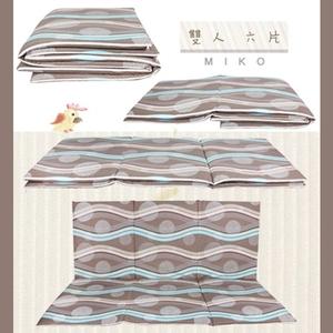 【MIKO】台灣製 5X6尺雙人床墊-厚椰棕雙人床墊97灰
