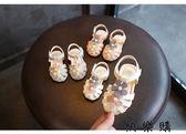 女寶寶涼鞋羅馬鞋小童嬰兒軟底學步鞋