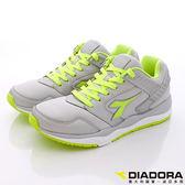 【DIADORA】義大利國寶鞋-動能乳膠氣墊跑鞋-DA6AMC3285-灰綠-男段-0