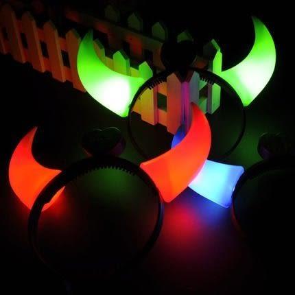 【發現。好貨】發光牛角 惡魔 聖誕節裝飾品 閃光牛角燈夜光帶燈 派對 尾牙 春酒 跨年