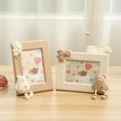 創意相框 7寸創意可愛相框擺臺照片擺件兒童房桌面卡通老鼠家居裝飾品【快速出貨八折鉅惠】
