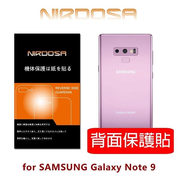 快速出貨 NIRDOSA PET 熱壓弧形 SAMSUNG Note 9 背面保護貼
