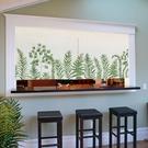 宜家►北歐麋鹿廚房小窗簾遮擋裝飾半簾簡易...