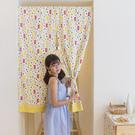 可愛時尚棉麻門簾15 廚房半簾 咖啡簾 窗幔簾 穿杆簾 (80cm*120cm) 風水簾