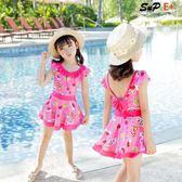 兒童泳衣 連體公主裙式 嬰兒游泳衣