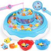 兒童磁性電動釣魚機 寶寶益智小貓雙層釣魚套裝小孩1-3-6周歲玩具