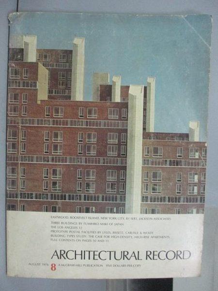 【書寶二手書T3/建築_QAC】Architectural Record_1976/8