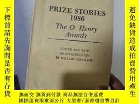 二手書博民逛書店實物拍照;PRIZE罕見STORIES 1986 The O.Henry Awards 1986年歐·亨利文學獎短