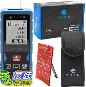 [9美國直購] Laser Distance Measure 雷射測距 200Ft -m/ft/in -volume, area time delay and 3 meter functions