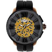 【僾瑪精品】MORRIS K「舞極限」時尚豹紋休閒錶(小-豹紋黑)_MK10205-HC03