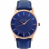 RELAX TIME Classic 經典系列手錶-藍/42mm RT-88-3M