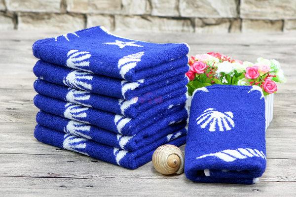 超厚58兩170g 純棉毛巾 運動毛巾 無毒 厚實耐用超吸水 / 海洋之星 深藍 / 台灣製造 【快樂主婦】