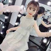 女童洋裝夏裝2021新款兒童超洋氣公主裙童裝小女孩雪紡無袖裙子 幸福第一站
