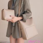 側背包新款潮韓版百搭斜背包簡約時尚大容量子母包 交換禮物