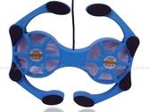 防滑型八爪魚筆電散熱座RX-838  熱插拔 可收盒NB散熱墊 藍色炫光USB供電【DW326】★EZGO商城★