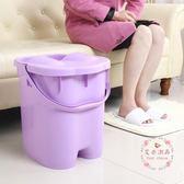 加高厚 泡足三里穴位按摩帶蓋塑料泡腳桶洗腳桶足浴桶洗腳盆