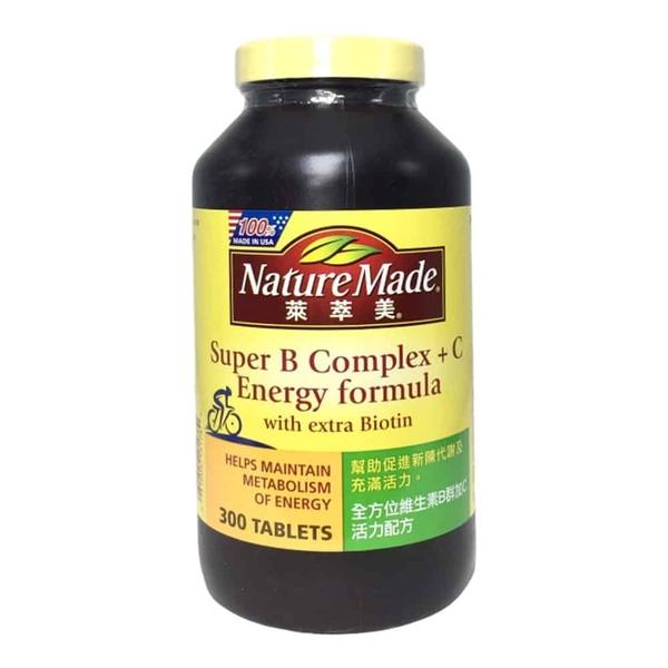 Nature Made 萊萃美 全方位維他命B群加C活力配方 300粒/瓶◆德瑞健康家◆