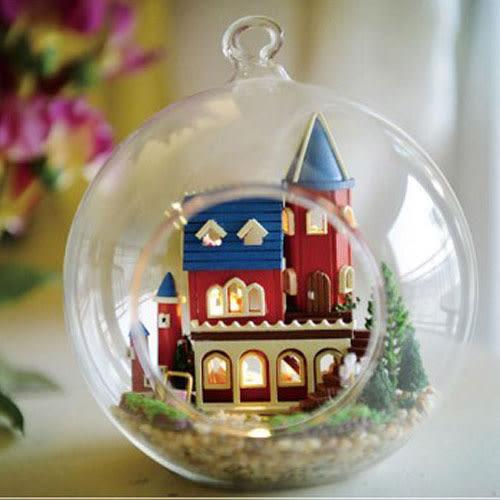 【WT16121305】 手製DIY小屋 手工拼裝房屋模型建築-愛麗絲夢幻古堡
