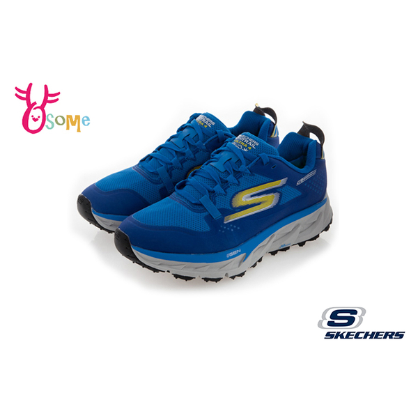 Skechers運動鞋 男鞋 GO TRAIL ULTRA 4 防潑水運動鞋 足弓 慢跑鞋 S8205#藍色◆OSOME奧森鞋業