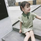女童短袖上衣 女童夏季半袖童裝中長款polo衫兒童休閒上衣寶寶短袖洋氣T恤-Ballet朵朵